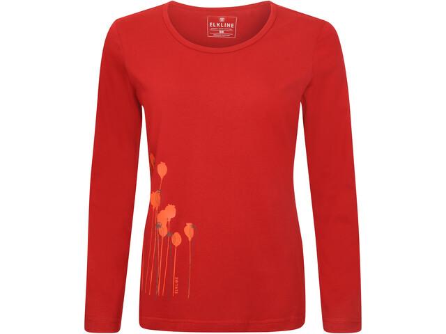 Elkline Posy Langærmet T-shirt Damer, chilipepperred